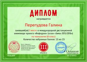 Диплом проекта infourok.ru № 678443